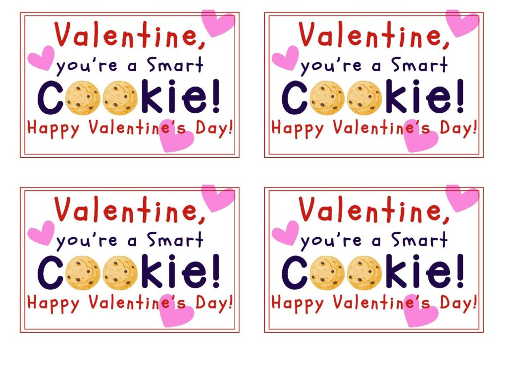 image regarding Smart Cookie Printable called Youre A Wise Cookie Printable Valentines - Your Day-to-day
