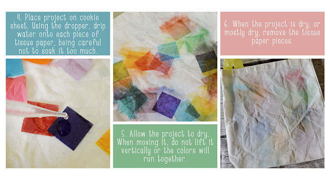 diy tissue paper tie dye bag board 2 opt your everyday family. Black Bedroom Furniture Sets. Home Design Ideas