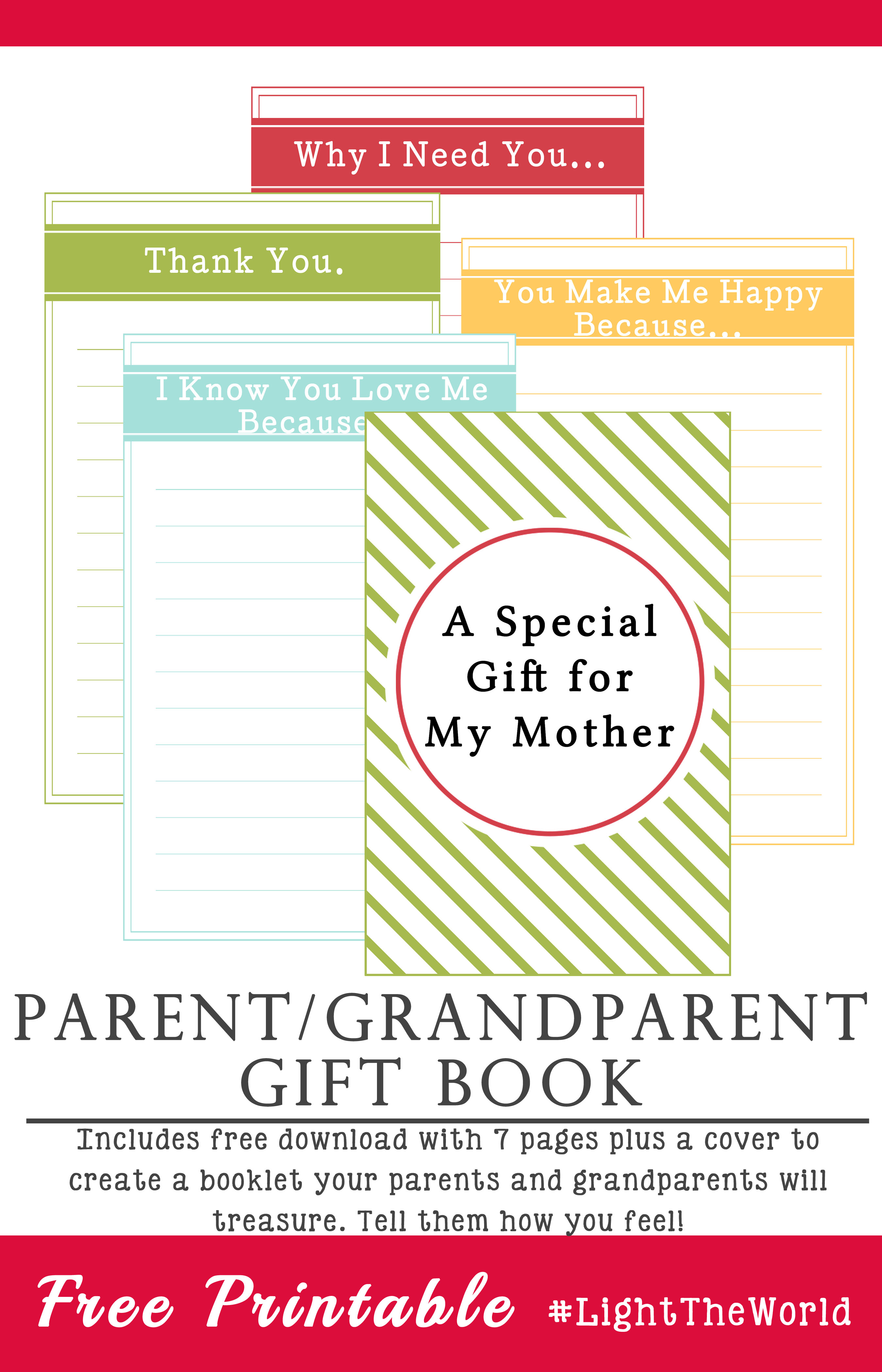 parent gift book printable lighttheworld   your everyday