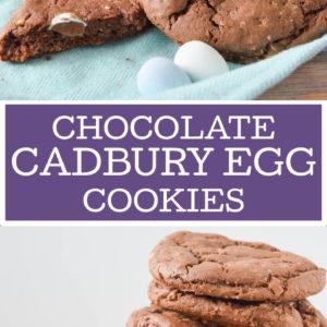 Chocolate Cadbury Egg Cookies