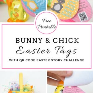 Relief Society & Young Women Easter Bunny & Chick Egg Tags With Bonus Message Tag